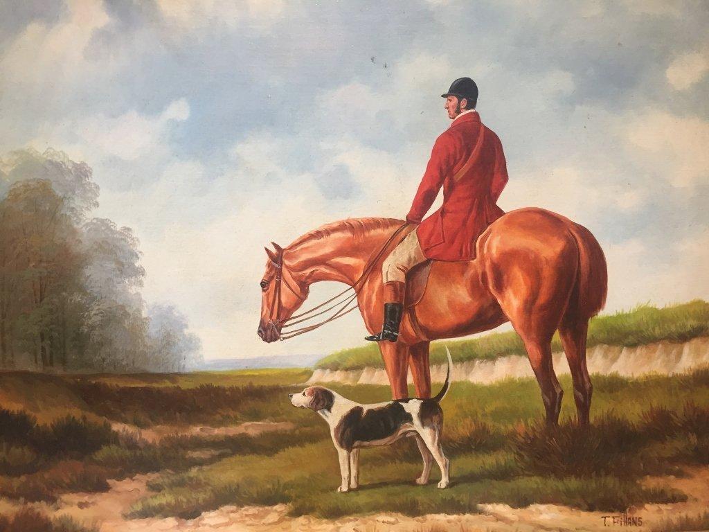 Painting of fox hunt - 2