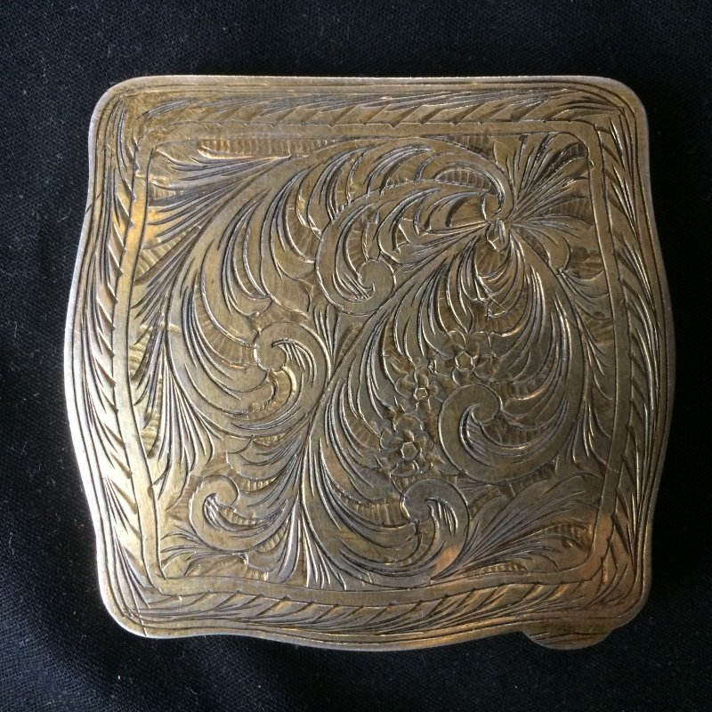 Box lot-800 silver and enamel compact, 3.9 t. oz - 6
