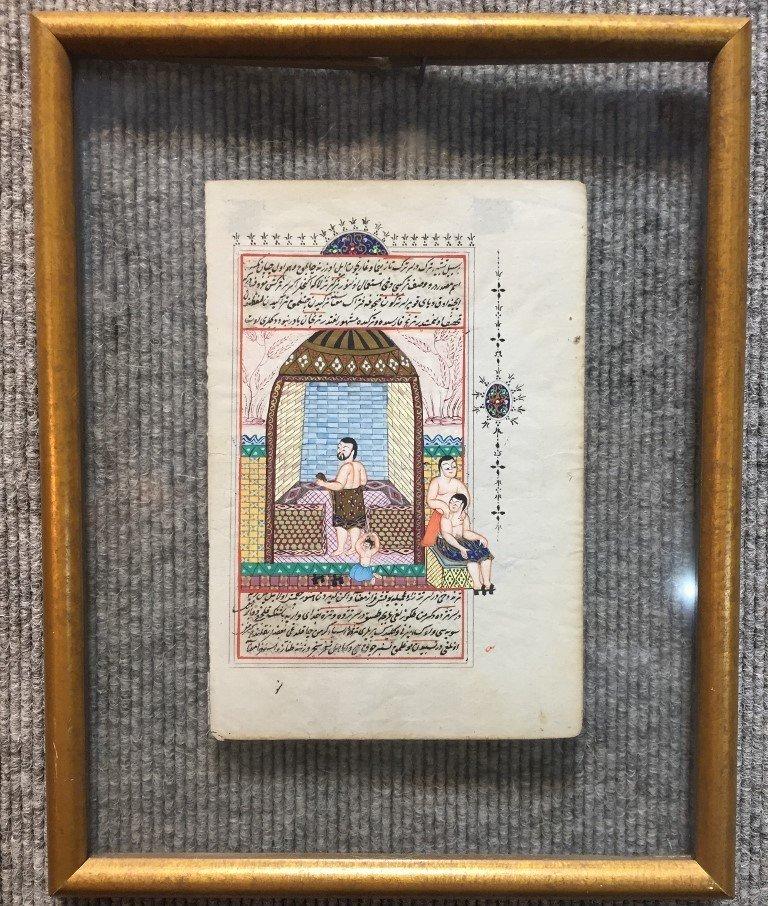Pair of Indian or Persian watercolors - 4