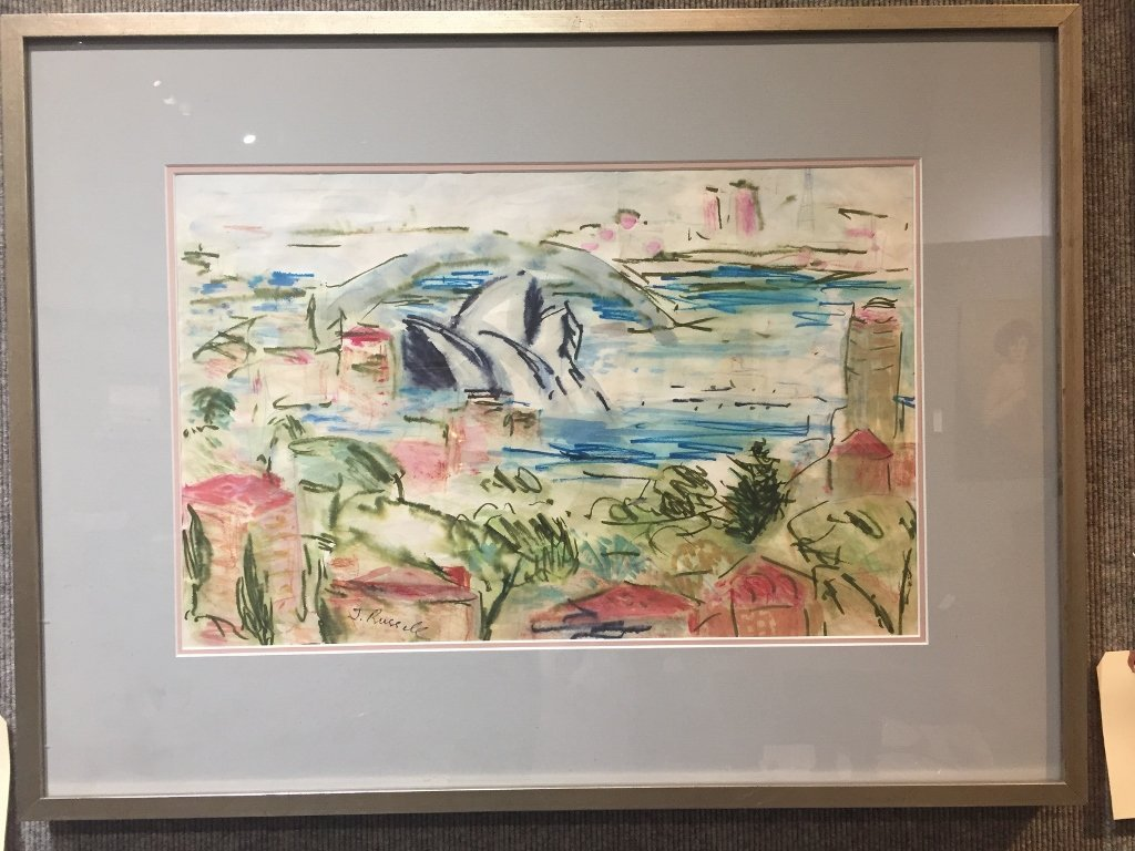 Watercolor by June Russell, c.1970