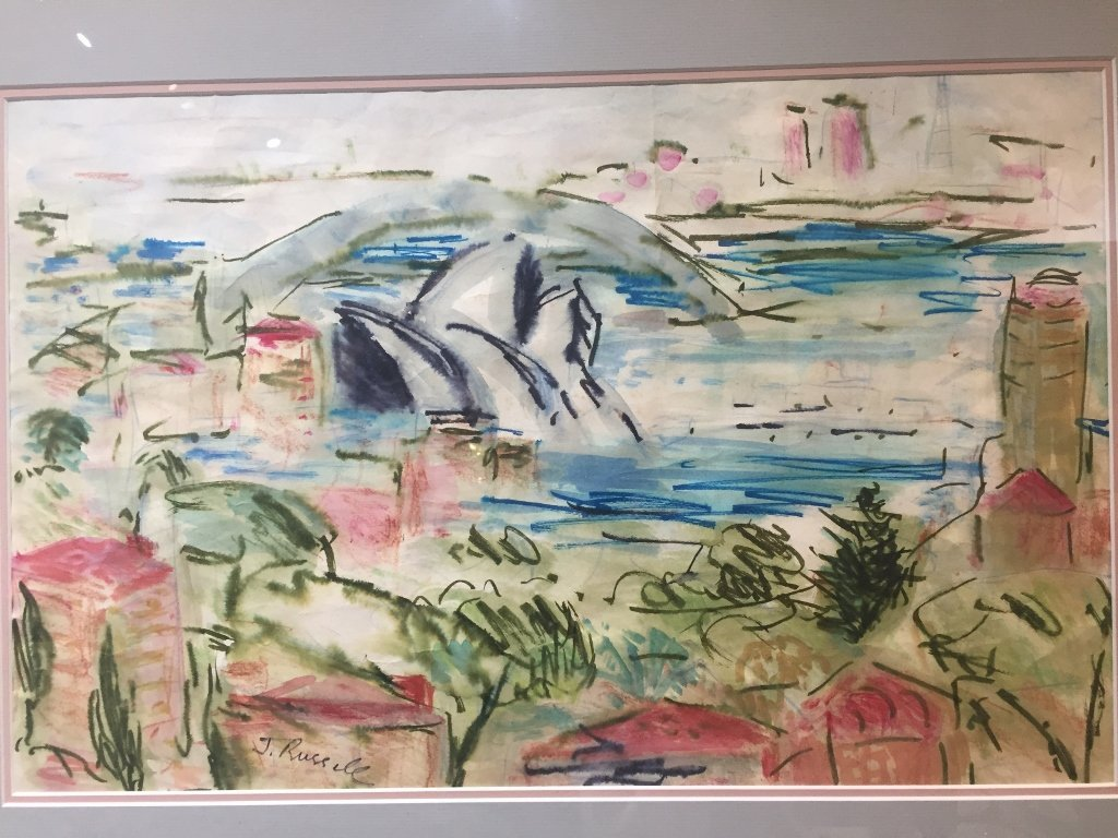 Watercolor by June Russell, c.1970 - 2