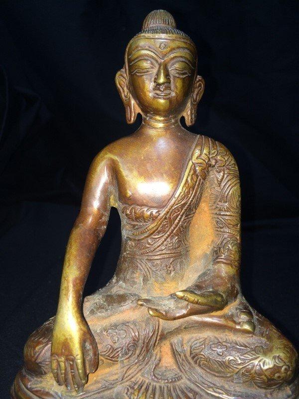 Box lot-Two metal Buddha figurines - 2