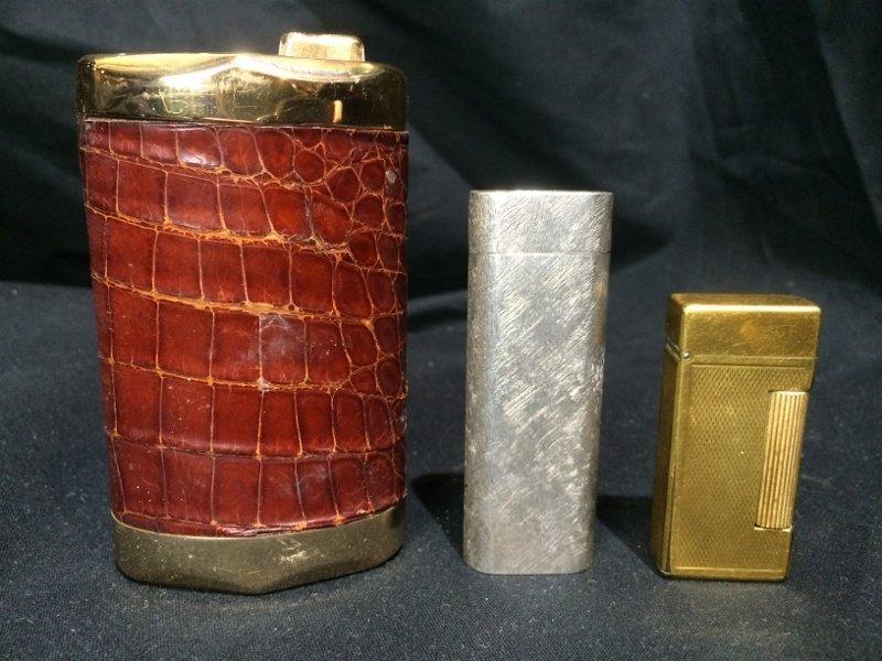 Box lot-3 Lighters, incl Dunhill & Cartier - 3