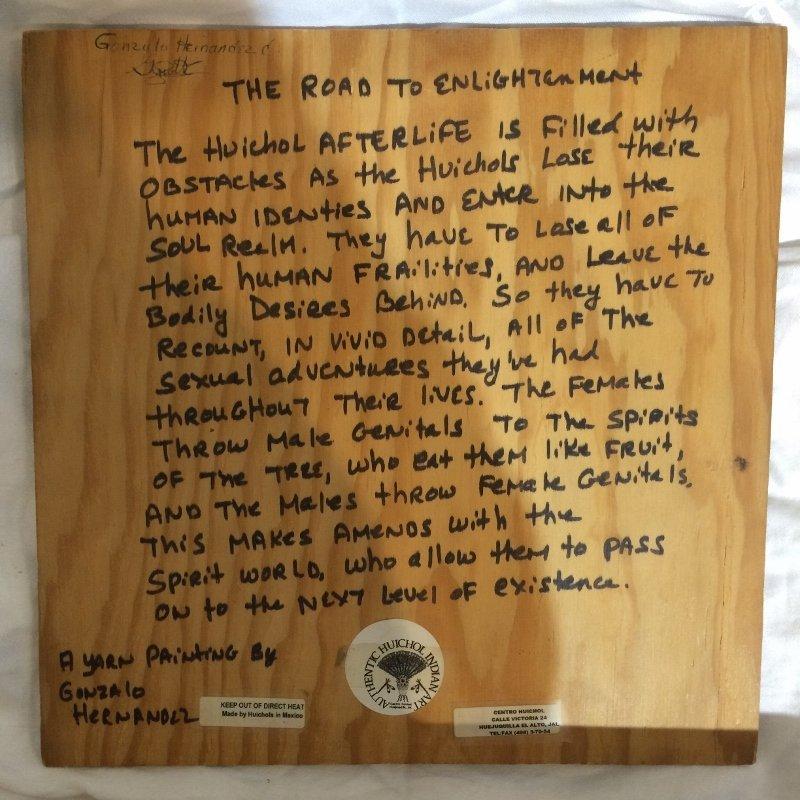 Huichol woven tree of death plaque - 4