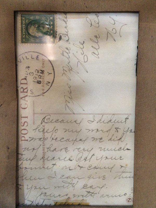 Framed 1912 Pickle postcard - 4