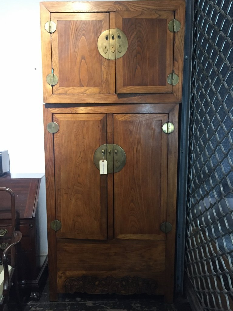 Large Chinese cabinet-two pieces