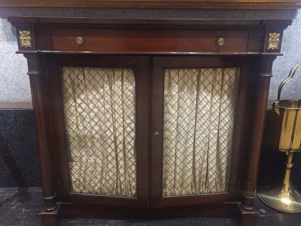 Mahogany Neoclassical side cabinet