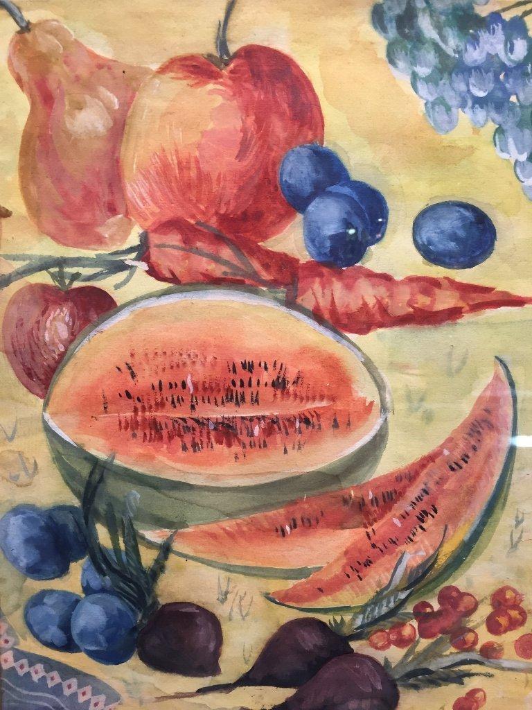 Gouache of watermelon by Pavel Kuznetsov-Ambassador - 2