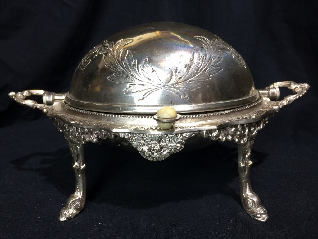 Victorian silverplate food warmer