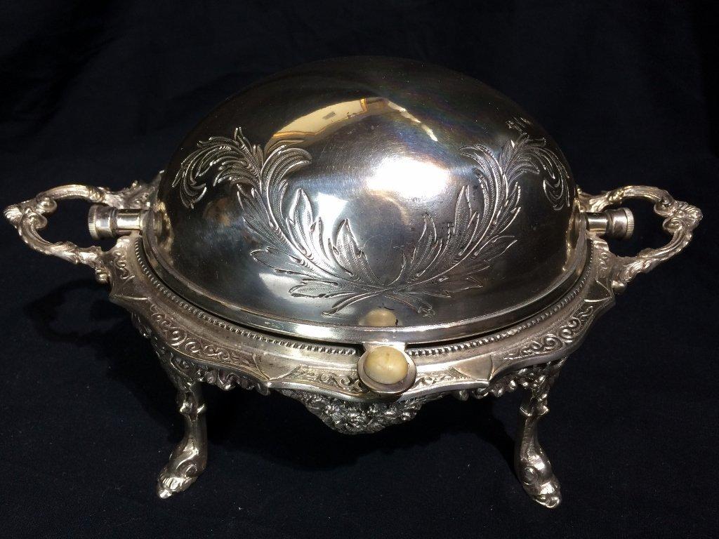 Victorian silverplate food warmer - 2