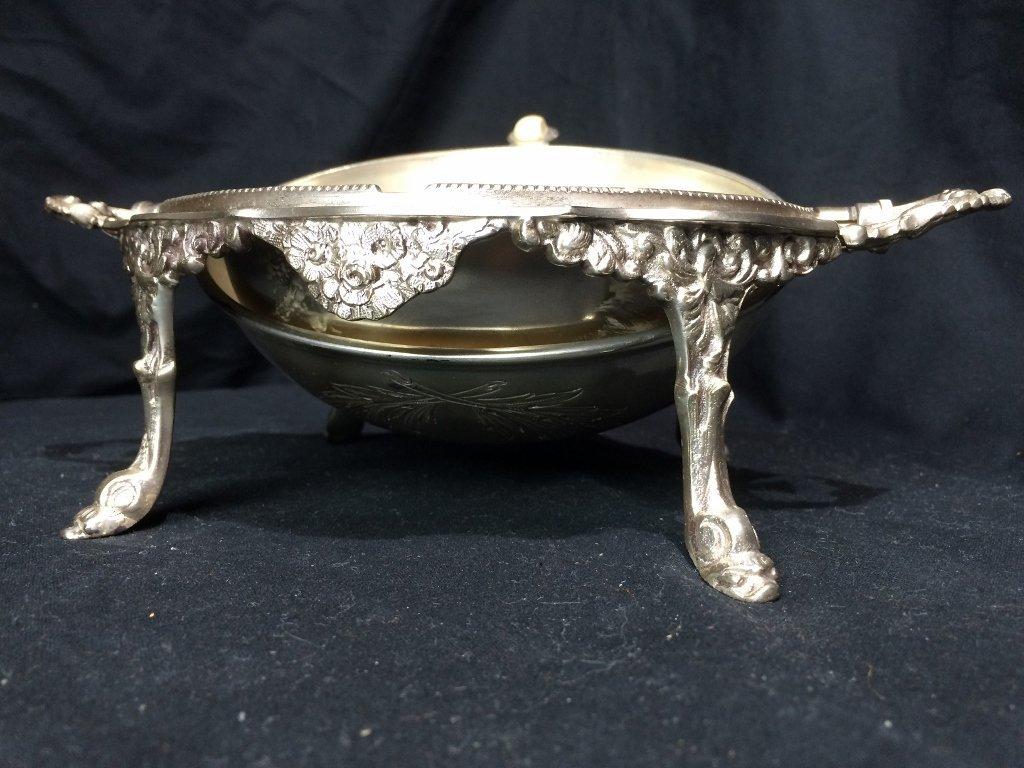 Victorian silverplate food warmer - 4