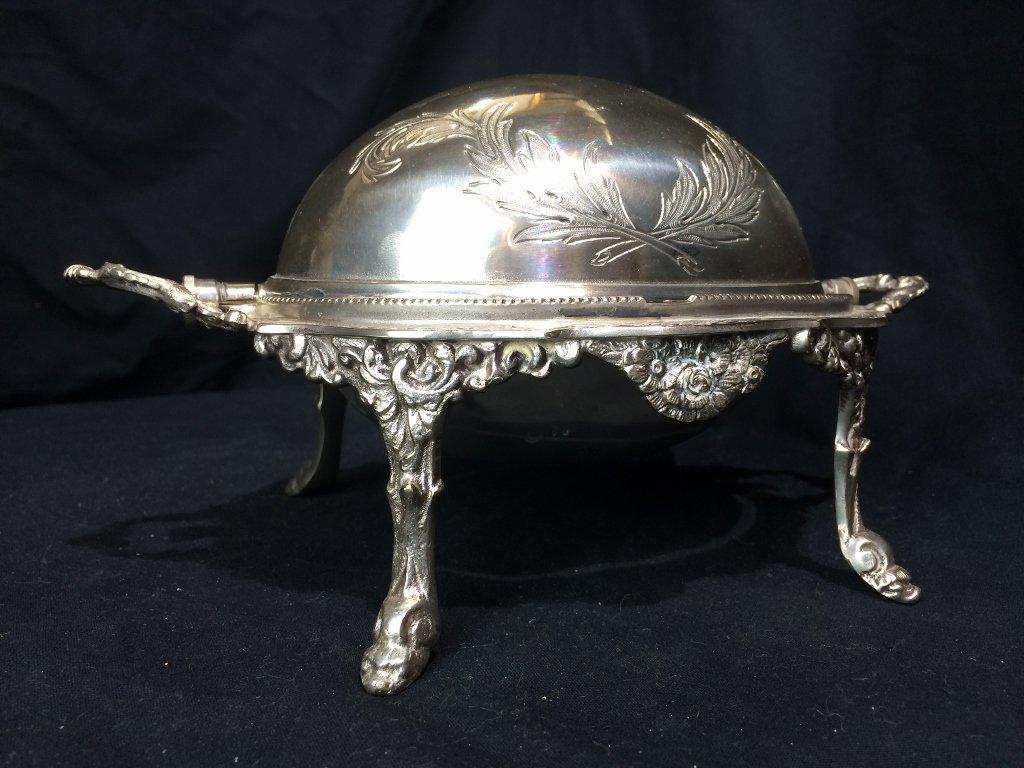 Victorian silverplate food warmer - 5