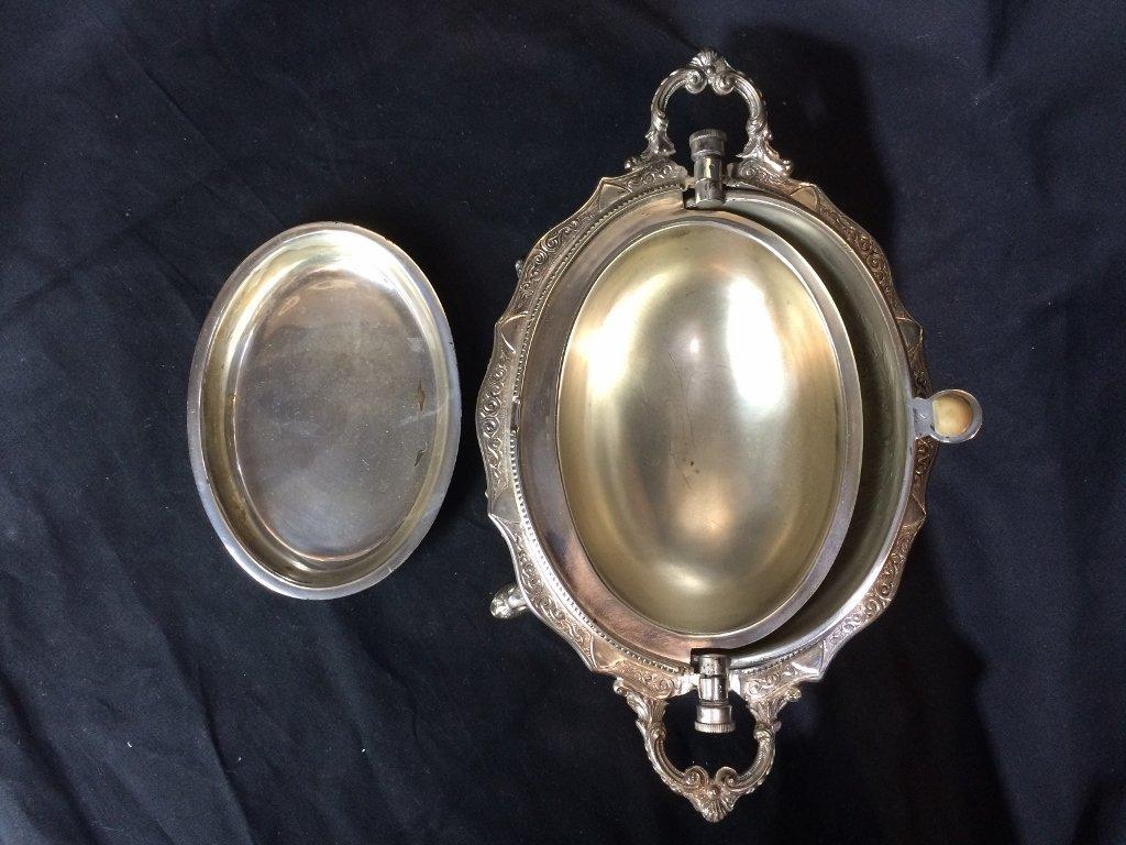 Victorian silverplate food warmer - 7