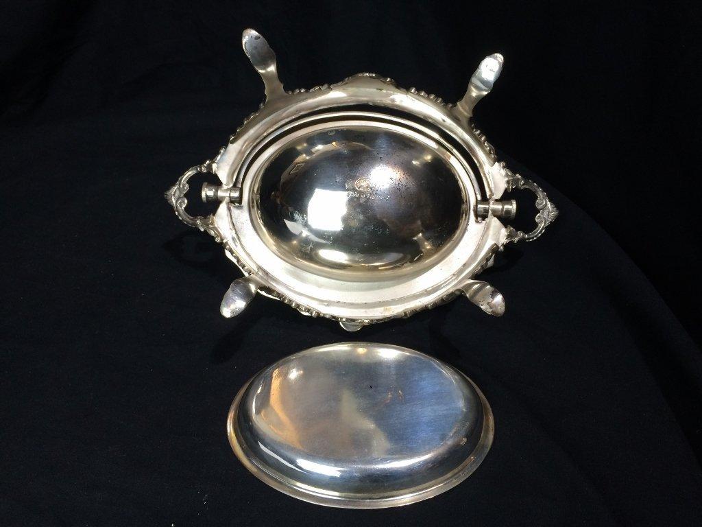 Victorian silverplate food warmer - 8