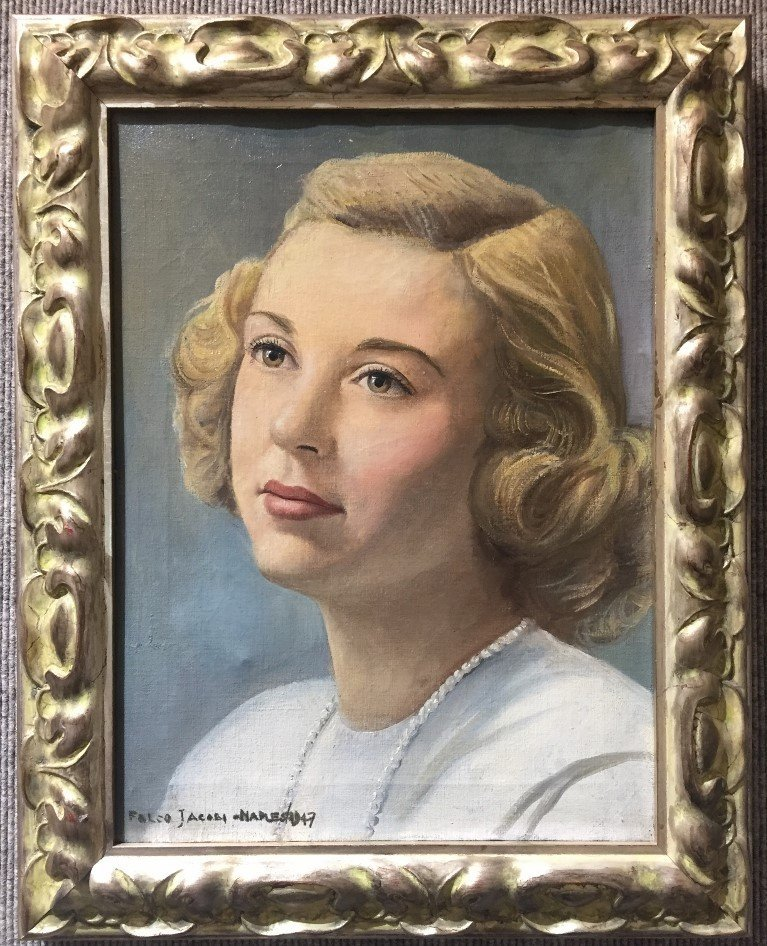 Portrait of blonde woman by Falco Jacobi, 1947