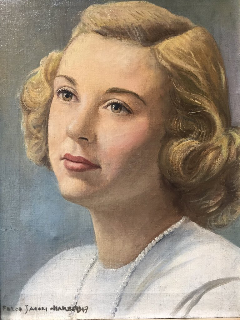 Portrait of blonde woman by Falco Jacobi, 1947 - 2