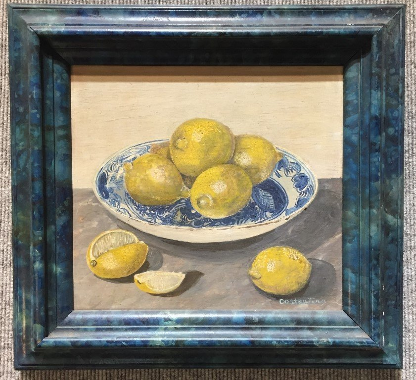 Painting of lemons by Costantino