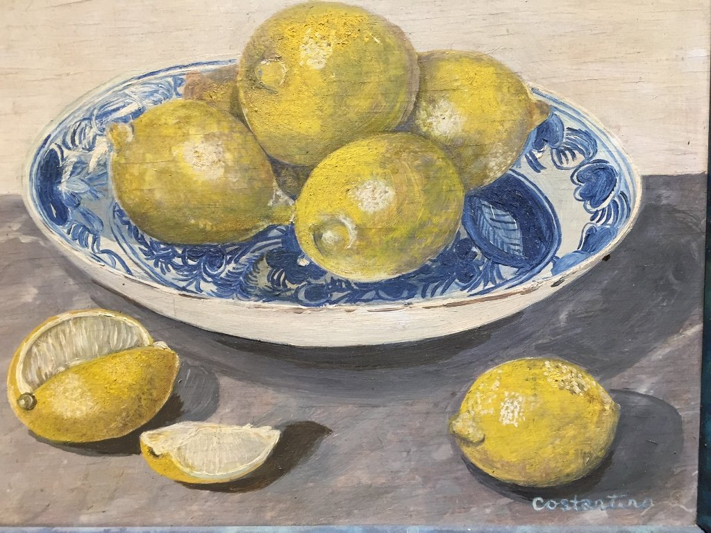 Painting of lemons by Costantino - 2