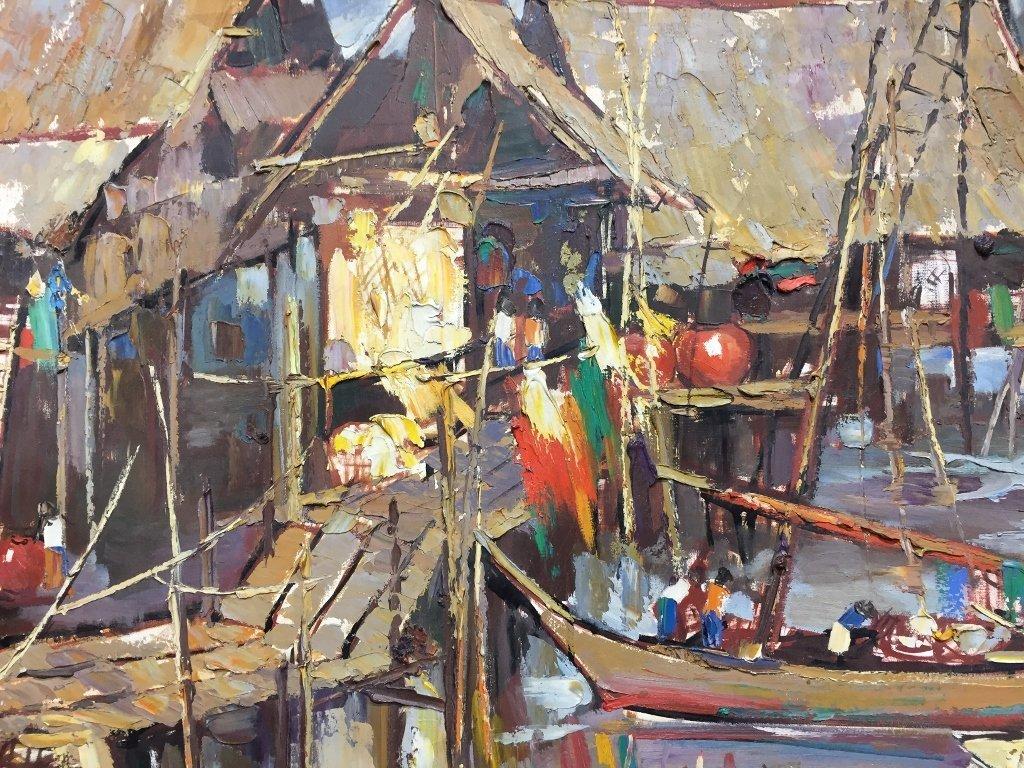 Painting of Puttaya by Sujarit Hirankul(Thai 1946-1982) - 2