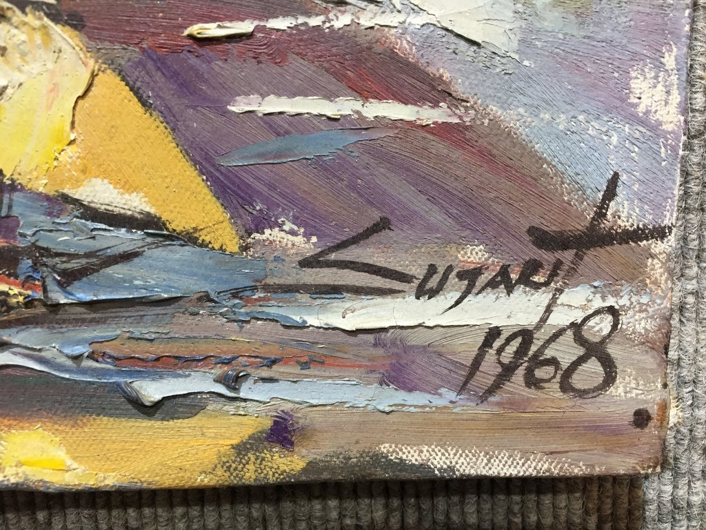Painting of Puttaya by Sujarit Hirankul(Thai 1946-1982) - 3