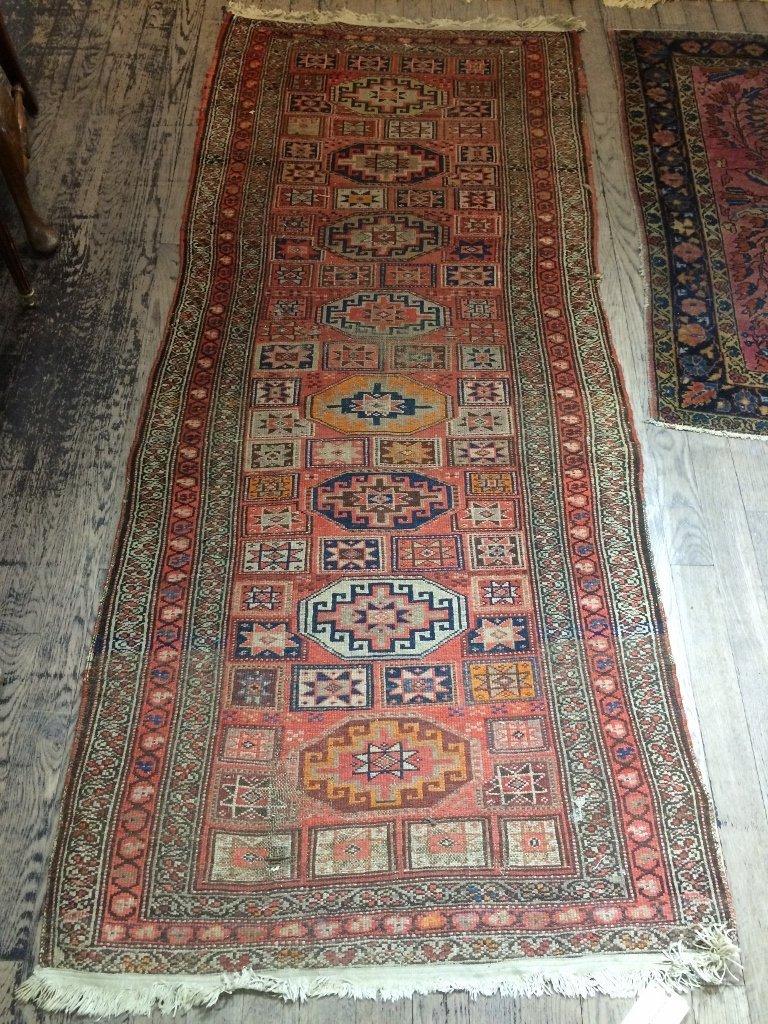 """Caucasian rug, c.1900, 94"""" x 39"""""""