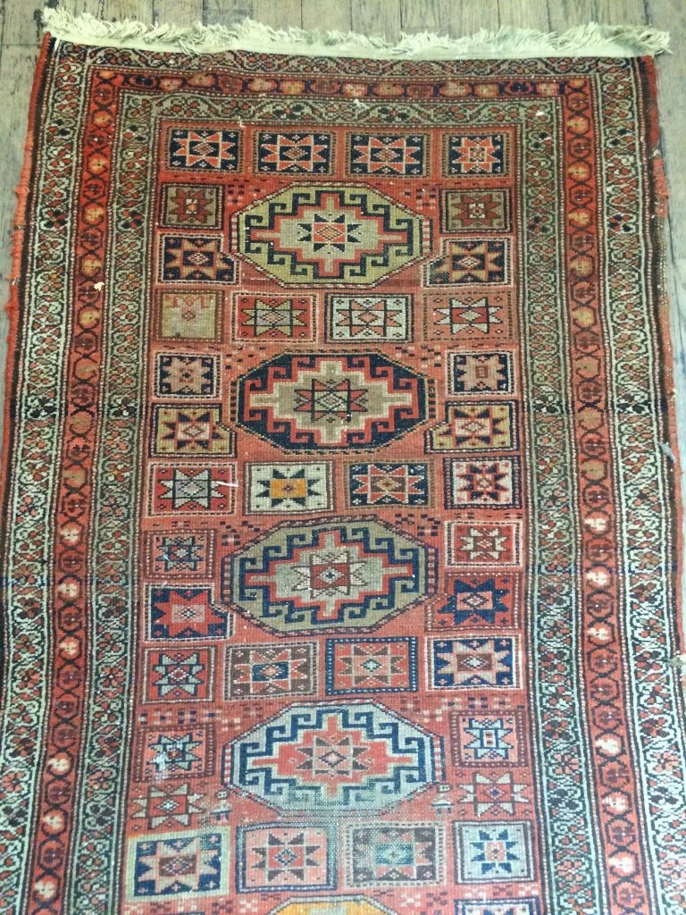 """Caucasian rug, c.1900, 94"""" x 39"""" - 2"""