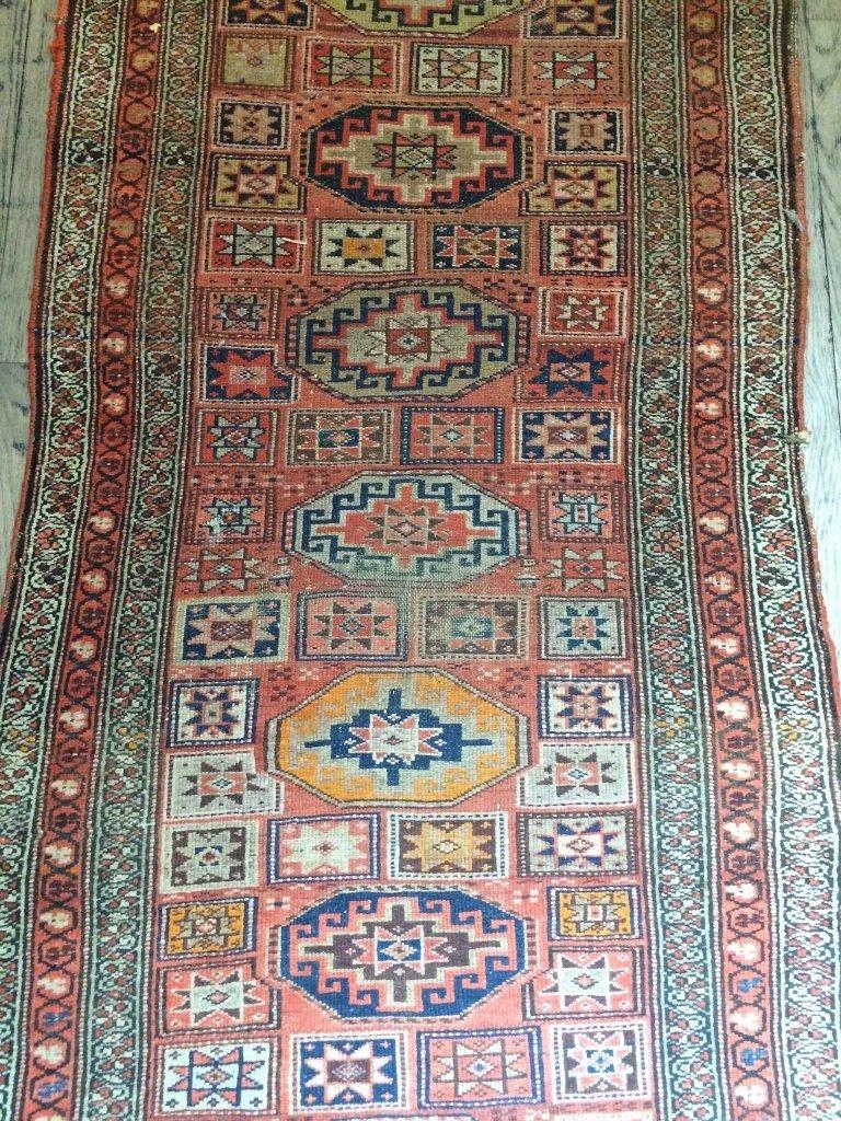 """Caucasian rug, c.1900, 94"""" x 39"""" - 3"""