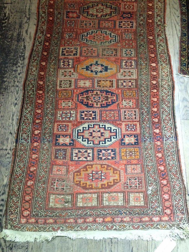 """Caucasian rug, c.1900, 94"""" x 39"""" - 4"""