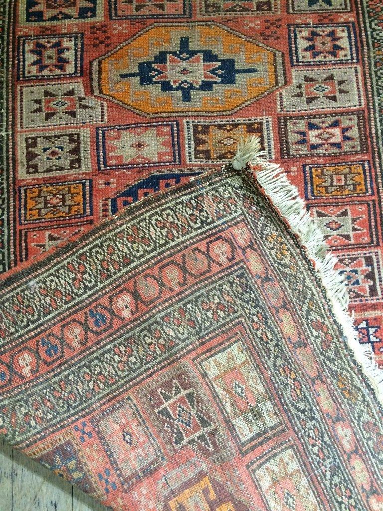 """Caucasian rug, c.1900, 94"""" x 39"""" - 5"""