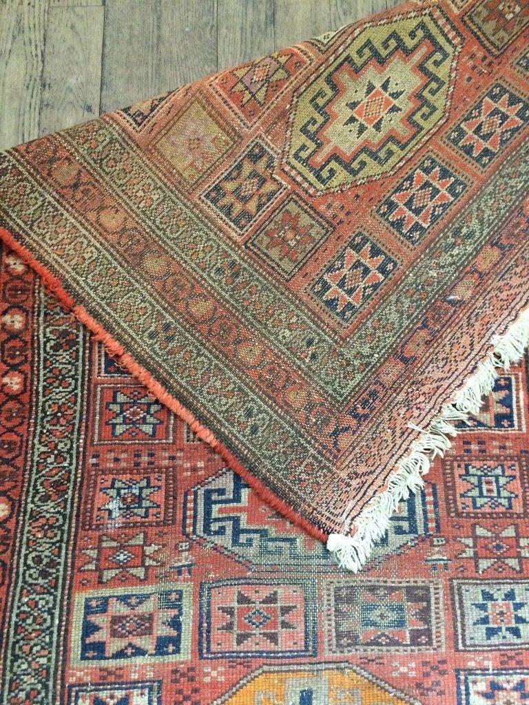 """Caucasian rug, c.1900, 94"""" x 39"""" - 6"""