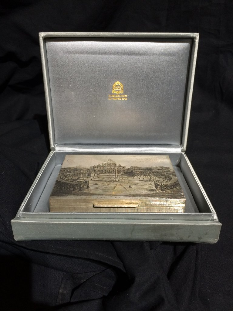 Buccellati silver box-original box, 7.7 t. oz - 10