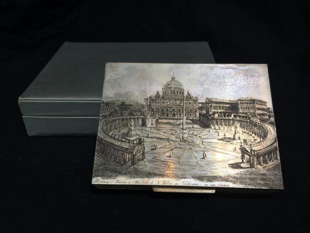 Buccellati silver box-original box, 7.7 t. oz