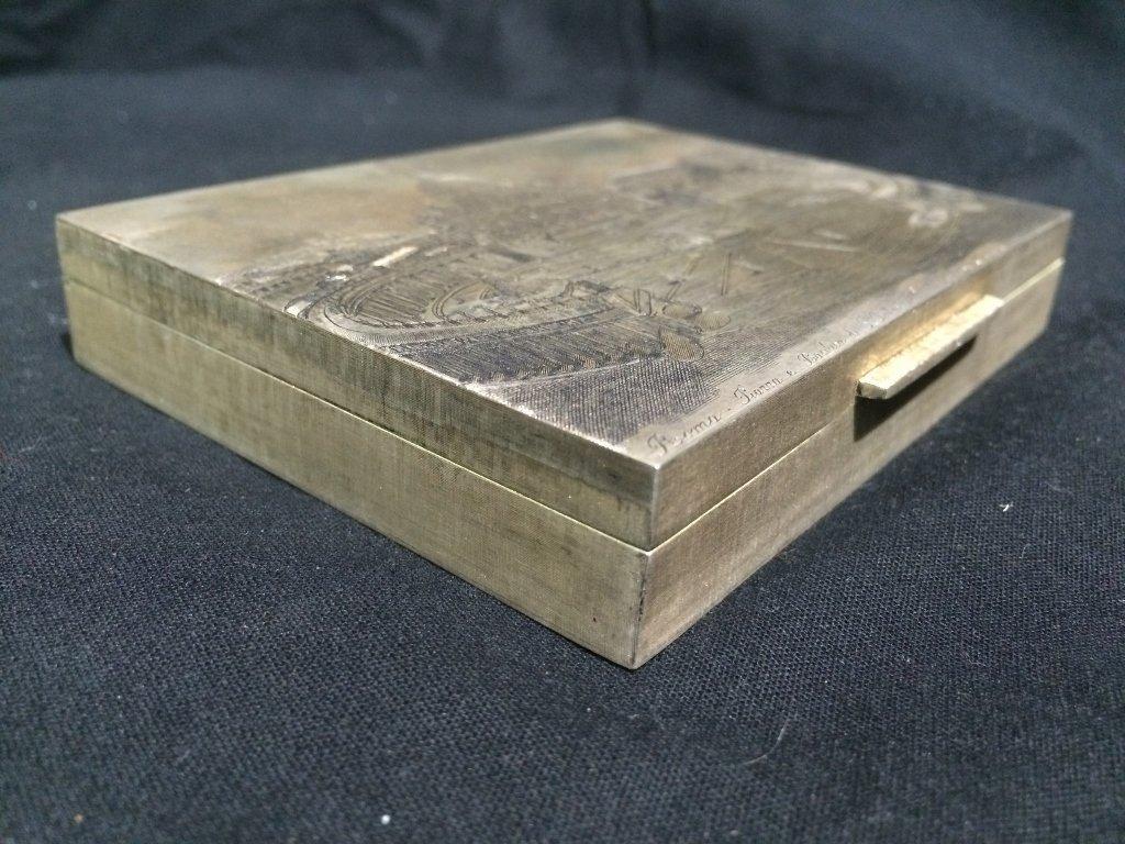 Buccellati silver box-original box, 7.7 t. oz - 6