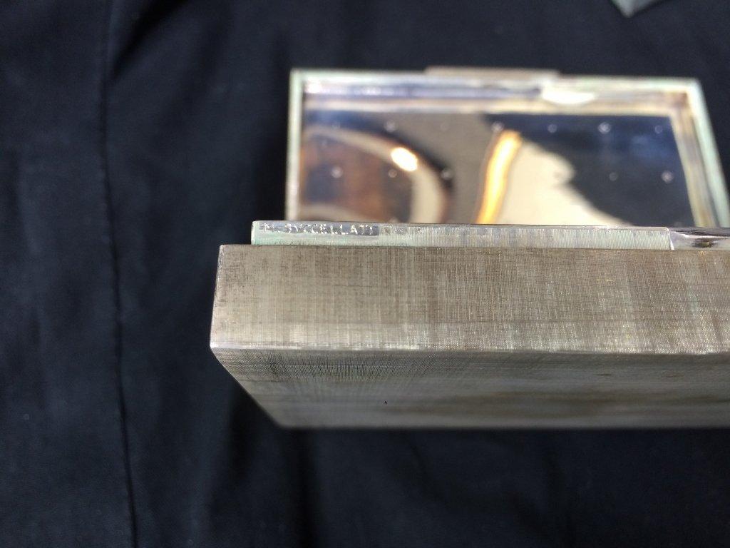 Buccellati silver box-original box, 7.7 t. oz - 8
