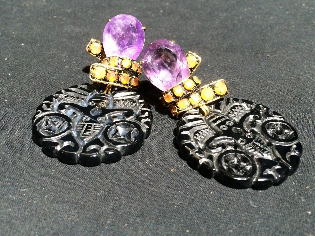 Pair of earrings by Iradj Moini