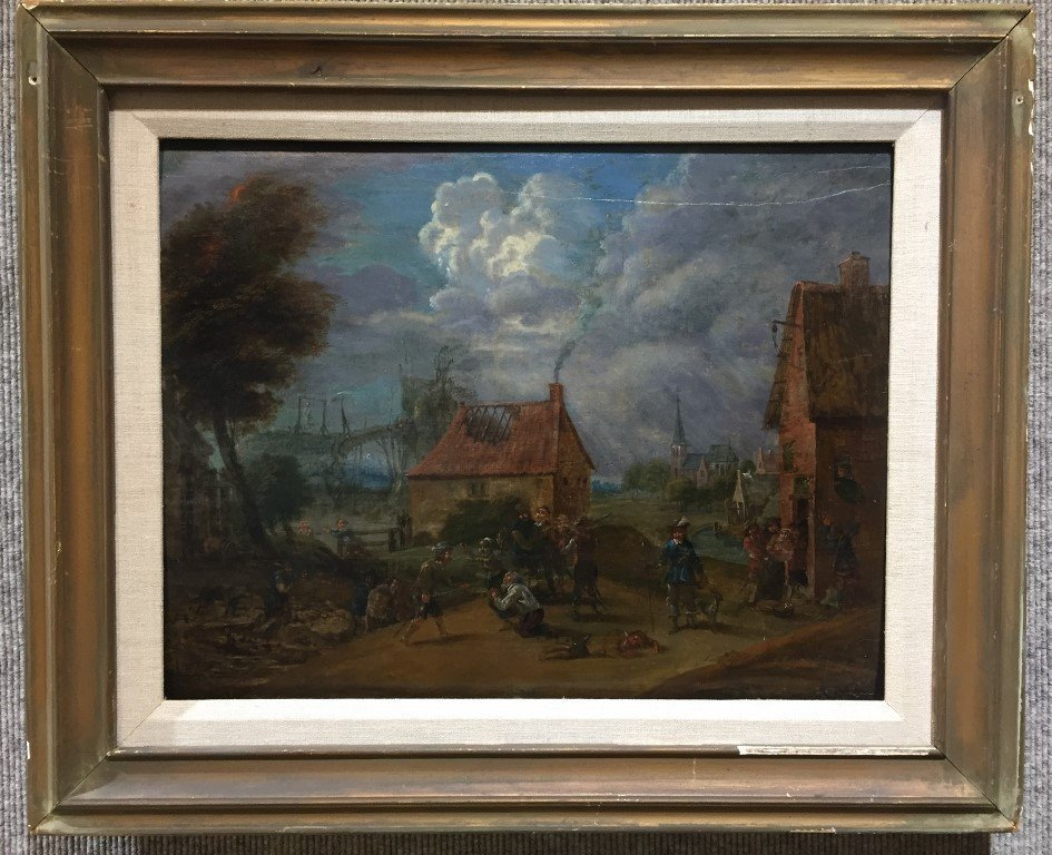 17th cen painting attrib to David Teniers the Younger
