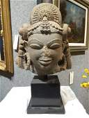 Central Indian beige sandstone Parvati, 11th century.
