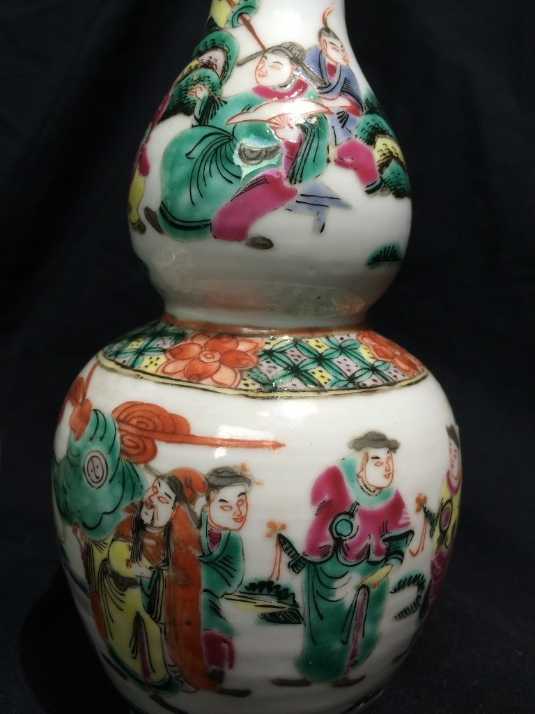 Pair of Chinese vases, 4 character mark - 3