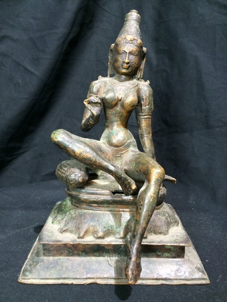 Indian metal or bronze idol figure