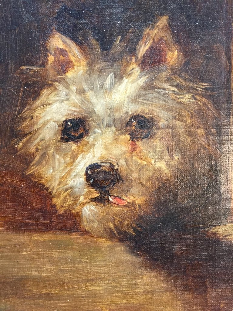 19th century painting of a dog's face - 2