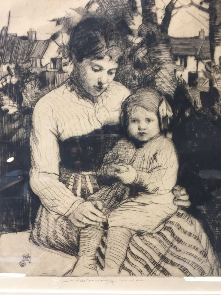 Etching of woman & baby by William Lee Hankey - 2