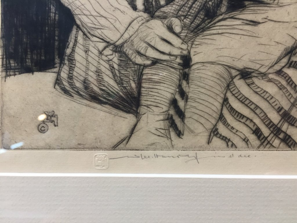 Etching of woman & baby by William Lee Hankey - 3