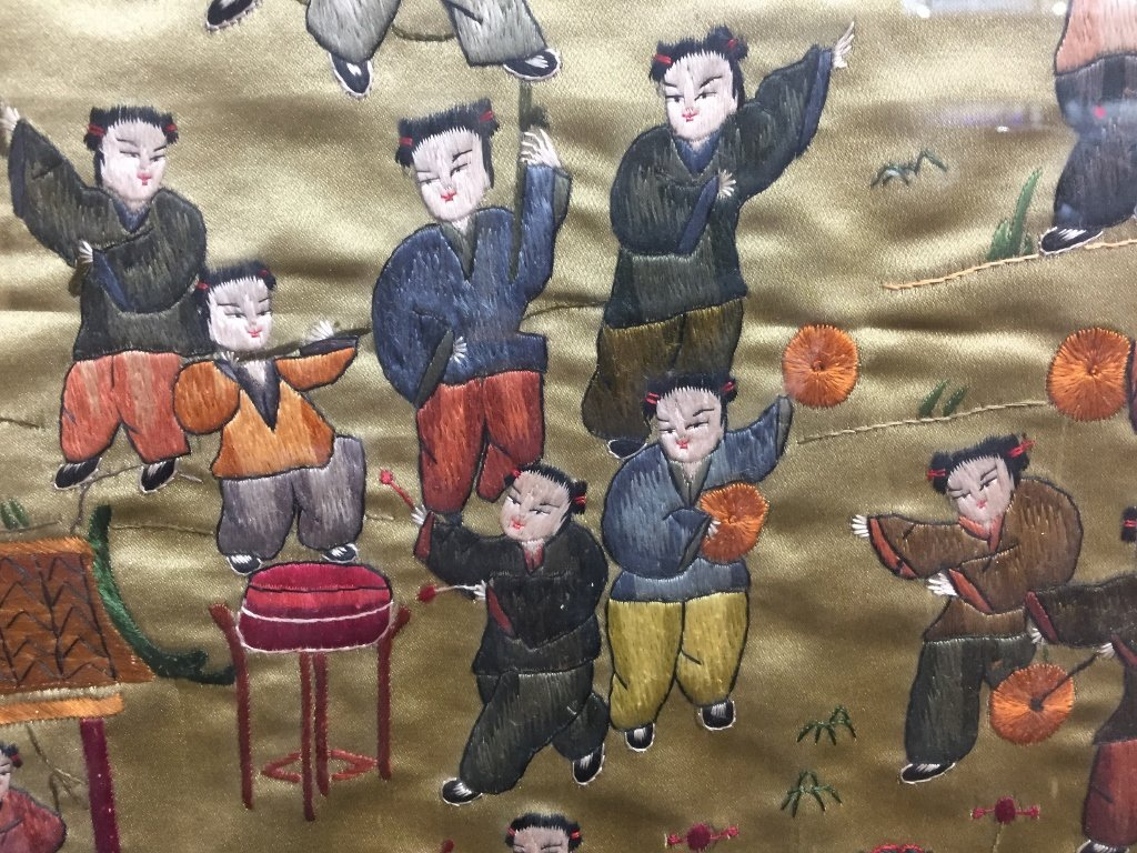 Chinese silk embroidery, 100 boys - 3