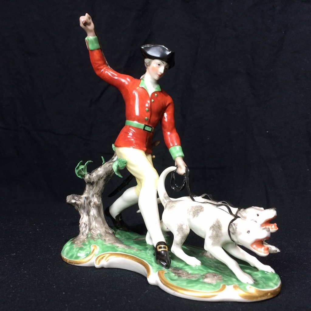 Nymphenburg figurine with dogs, c.1920