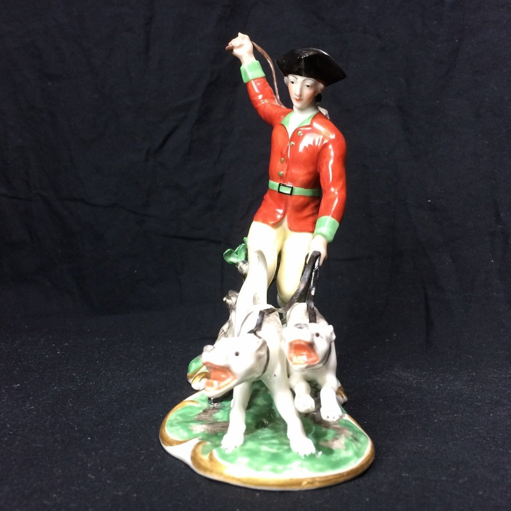 Nymphenburg figurine with dogs, c.1920 - 2