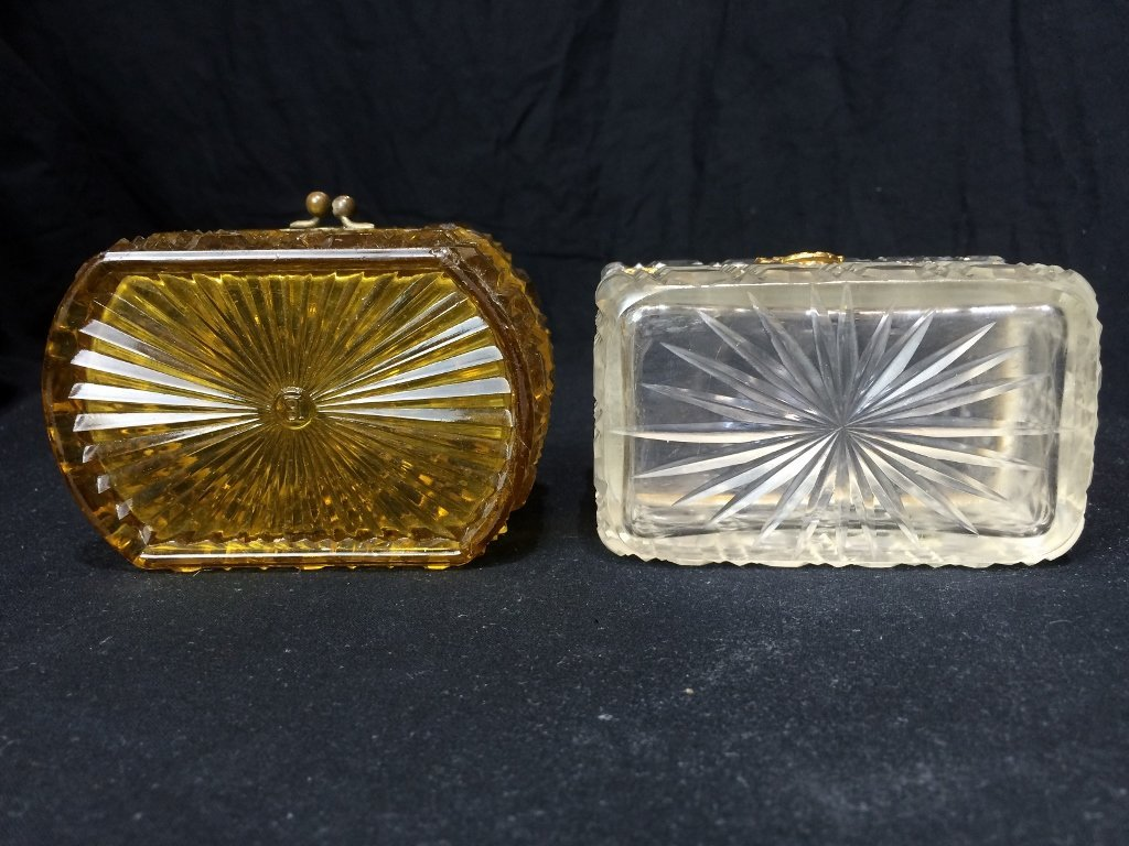 Box lot-Two crystal boxes - 10