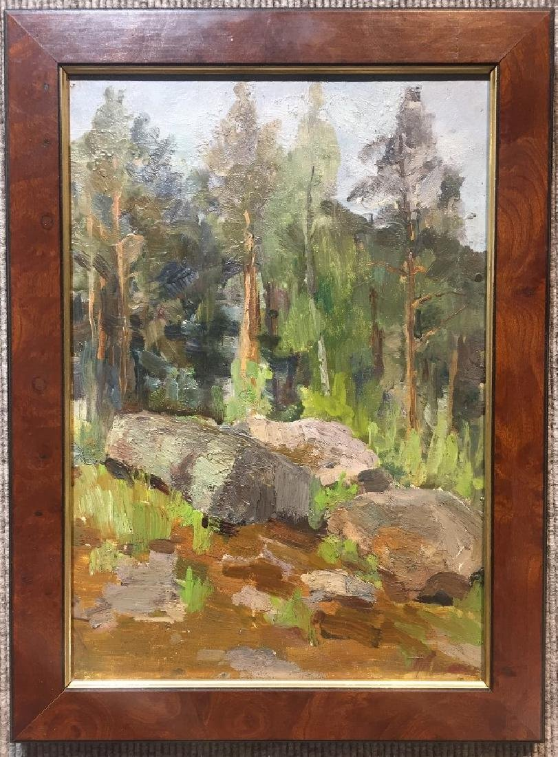 Painting of woods by Arkady Rylof-Ambassador Estate