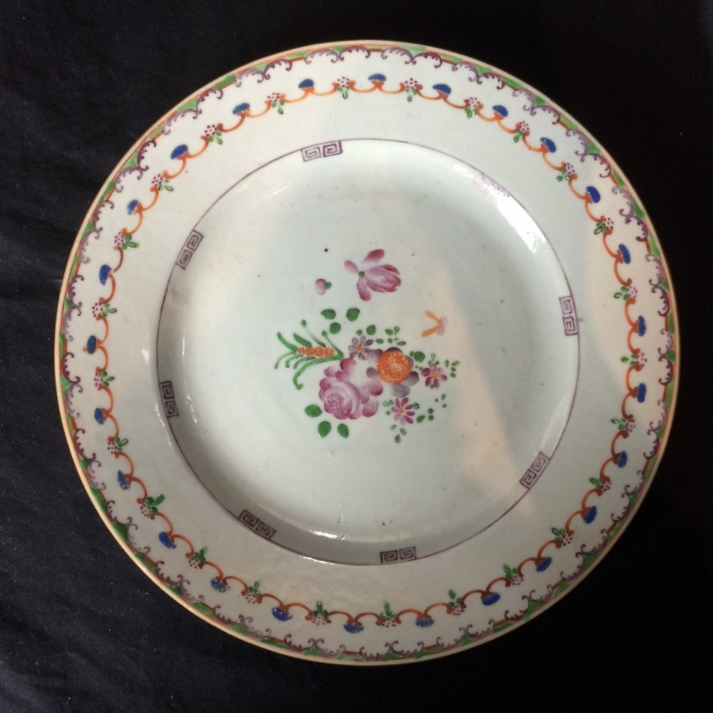 Chinese Export plate, c.1780.