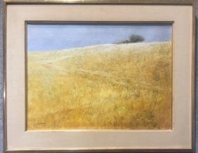 Painting of field by Robert Maione