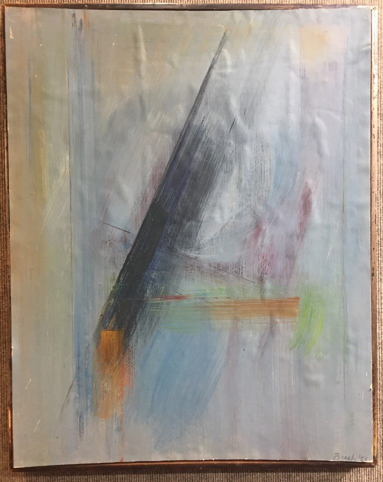 Abstract painting by Paul Brach, 1959-MoMA label